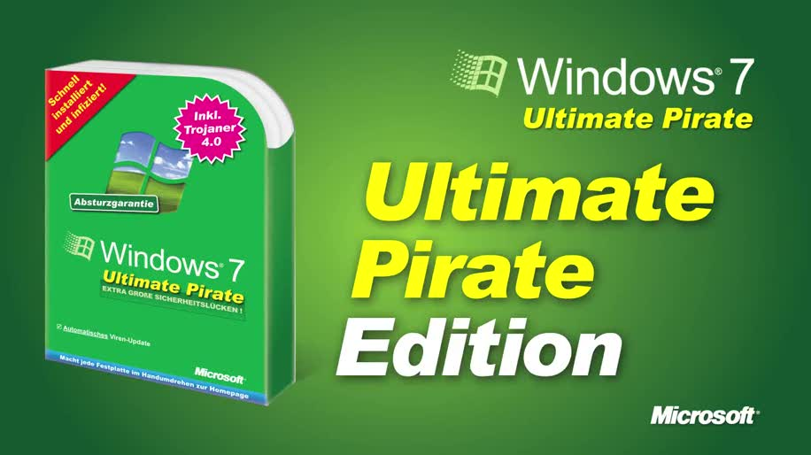 Microsoft, Betriebssystem, Windows 7, Piraterie, Windows 7 Ultimate Pirate Edition