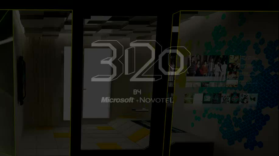 Microsoft, Samsung, Xbox, Kinect, Hotel, Novotel, Chambre 3120, Zimmer 3120, Hotelzimmer der Zukunft