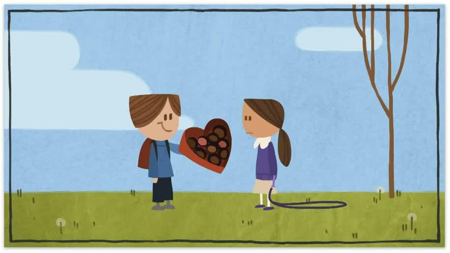 Google, Doodle, Animation, Valentinstag
