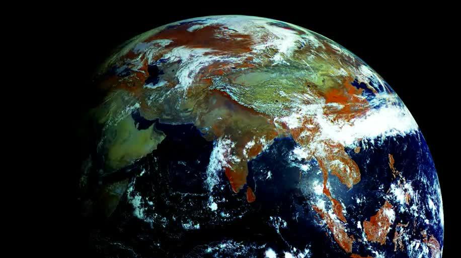 Satellit, Erde, Earth, Megapixel