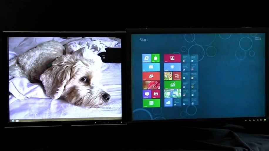 Microsoft, Betriebssystem, Windows 8, Display, Interface, Metro, Benutzeroberfläche, Metro UI, Multi Monitor