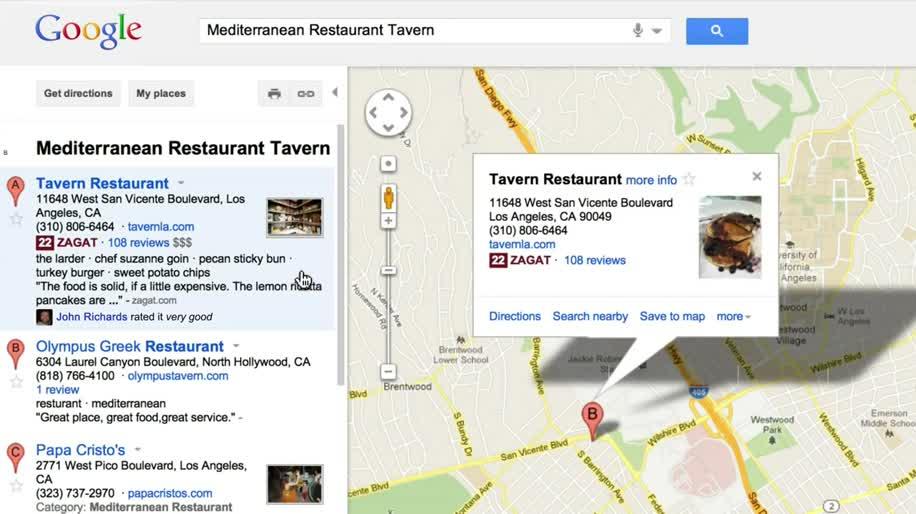 Google+, Places, Empfehlungen, Restaurant, Bar
