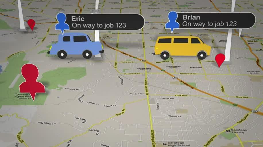 Google, Google Maps, Kartendienst, Mitarbeiter, Karte, Map, Koordination