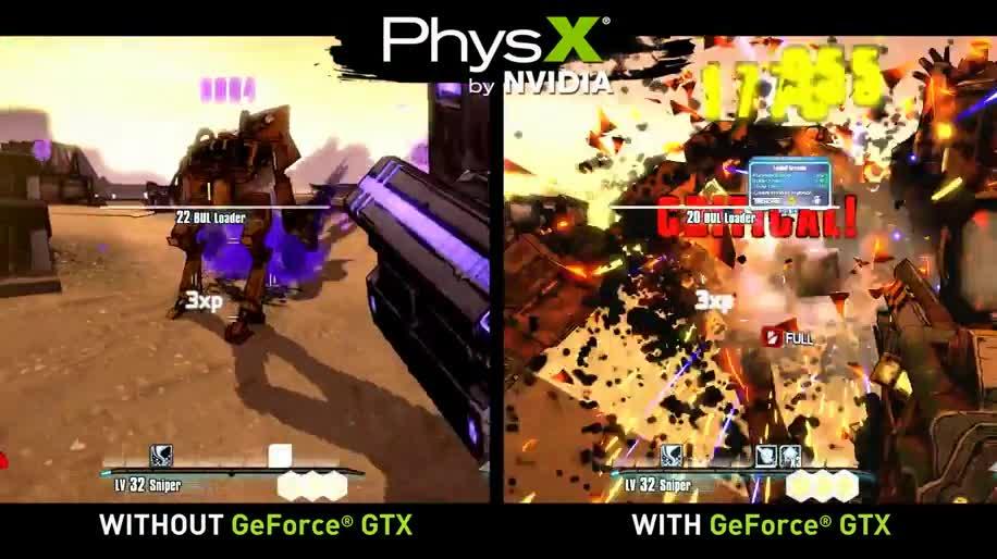 Ego-Shooter, Nvidia, 2K Games, Borderlands, Borderlands 2, PhysX, Gtx, Physik Engine
