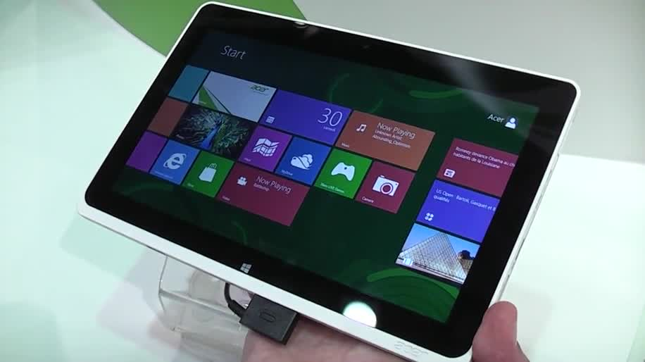 Tablet, Windows 8, Hands-On, Ifa, Acer, Intel Atom, Ifa 2012, Iconia Tab, Clover Trail, W510