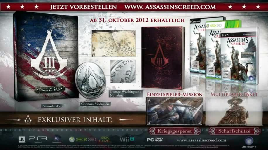 Ubisoft, Assassin's Creed, Assassin's Creed 3, Join or Die Edition