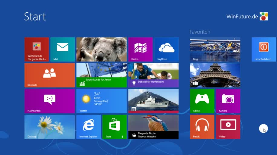 Microsoft, Betriebssystem, Windows, Windows 8, Video, Interface, Rtm, Final, lockscreen, sperrbildschirm, Windows 8 Rundgang