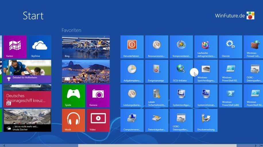 Microsoft, Betriebssystem, Windows 8, Metro, Benutzeroberfläche, modern ui, Verwaltung, Windows 8 Rundgang, Verwaltungstools, Verwalten, Ereignisanzeige