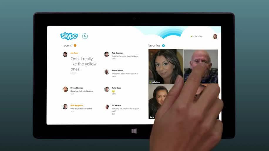 Microsoft, Windows, Windows 8, Skype, Skype VoIP, Skype Videotelefonie, Skype Videochat