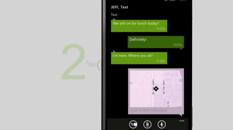 Microsoft, Smartphone, Windows Phone, Windows Phone 8, Messaging, Karten, WP8