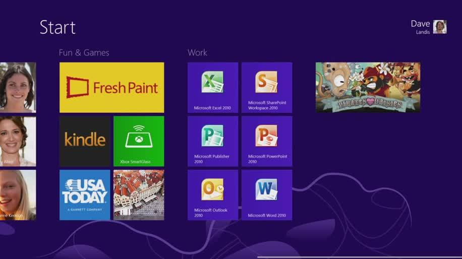 Microsoft, Betriebssystem, Windows, Windows 8, Interface, Metro, Benutzeroberfläche, Touch