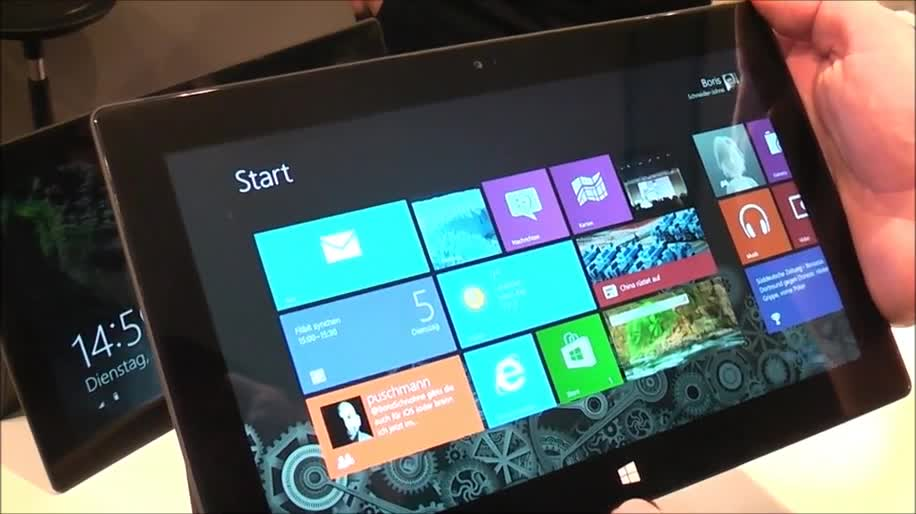 Microsoft, Betriebssystem, Tablet, Windows 8, Surface, Hands-On, Touchscreen, Surface Pro, Microsoft Surface Pro, Stylus, Cebit, Windows 8 Pro, Cebit 2013