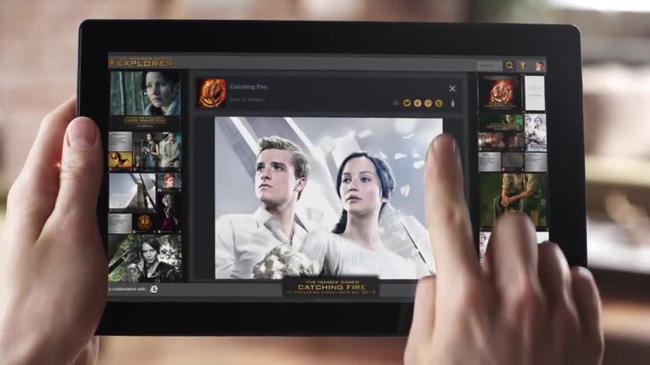 Microsoft, Internet Explorer, Html5, Internet Explorer 10, Multitouch, IE10, lionsgate, Hunger Games Explorer, RED Interactive, Hunger Games, Tribute von Panem