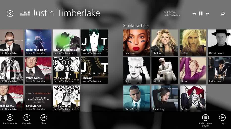 App, Windows 8, Musikdienst, Deezer