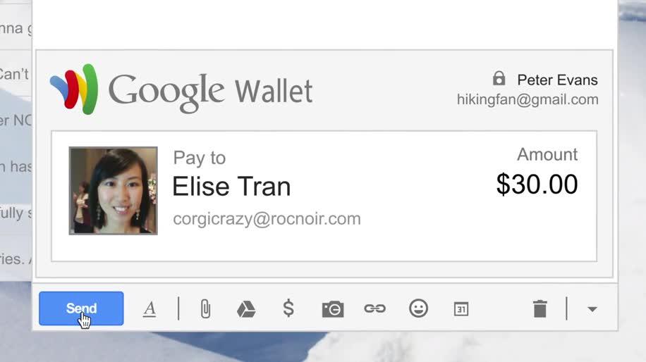 Google, Gmail, Geld, Google Wallet, Wallet