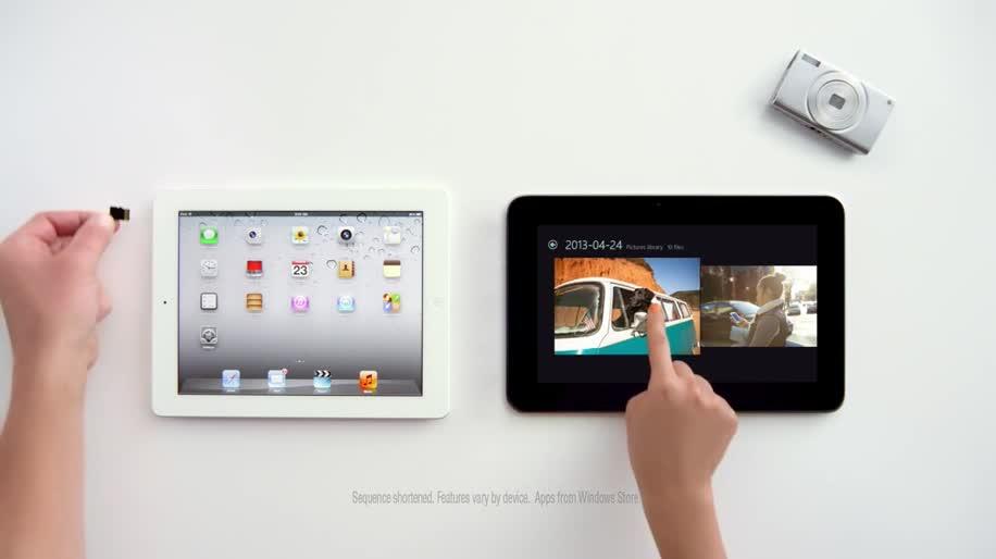 Microsoft, Apple, Tablet, iOS, Ipad, Werbespot, Windows RT, Dell, Apple Ipad, Windows RT Tablet, Dell XPS 10, XPS 10